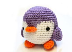 purple penguin 2 by tinyowlknits