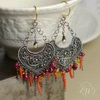 FLAMME - earrings by JoannaWatracz