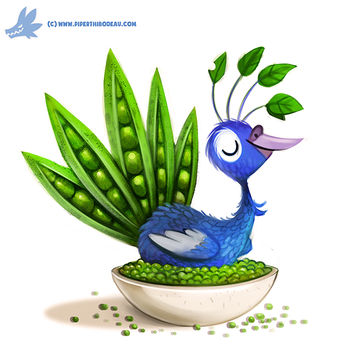 Daily Paint #1202. Pea-cock by Cryptid-Creations