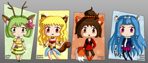[CLOSED] Four Seasons Kemonomimi Adoptables by izka197