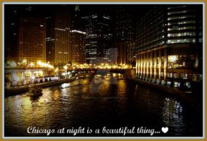 Chicago at Night by fireatwill916