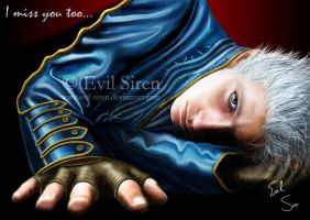 Vergil 'I miss you too' by Evil-Siren