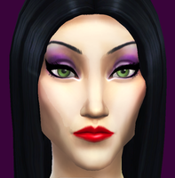 Morticia Addams Sims 4 edition by chocosunday