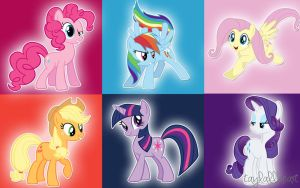 MLP FiM Wallpaper (Mane 6) by taylallheart