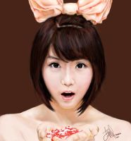 hyun young rainbow by noireru