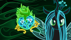 Neon Queen Chrysalis Wallpaper by ZantyARZ