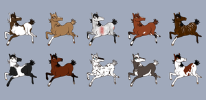 Natural Horse Adopts -- POINTS by Twilight-Commissions