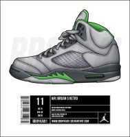 Air Jordan 5 'Green Bean' by BBoyKai91