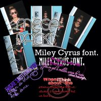 MEGA-PACK Miley Cyrus! Textos, fonts, candids. by celestebs