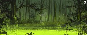 monocromatic green speedpaint by Kamina1978