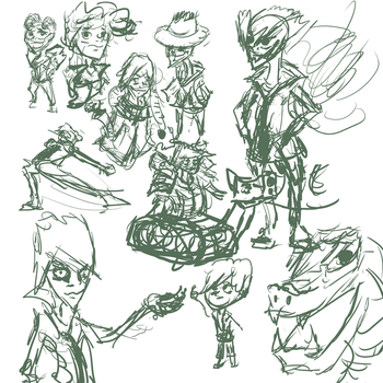 August 17th 30 minute sketch dump by Silvaks