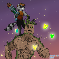 Commission: Grunk and Rick Jet by saintfighteraqua