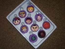 EarthBound Christmas Bulbs - Full Set by DragonKazooie89