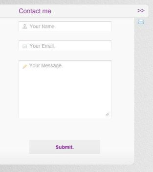 Slide out Contact Form by Dj23