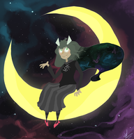 greetings from jade oN THE MOON by Flur-child
