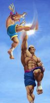 Adon VS Sagat SF 25an. Tribute by fedde