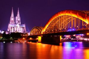 Cologne and The Rhine by gwutama