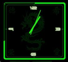 Chinese-Green-Animated-Clock 2-3-2 by xordes