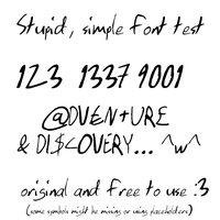 custom free to use font by nettimato