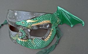 Small Dragon Half Mask by merimask
