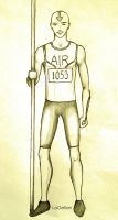 Olympics Series: The Pole Vaulter by LaGelian