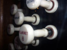 Closeup of the stops, St Edmund's 2 by ggeudraco