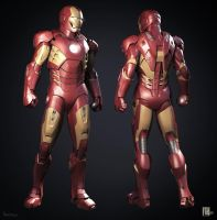 Iron Man Mark VII Armored Suit 3D Model (2) by Scarlighter