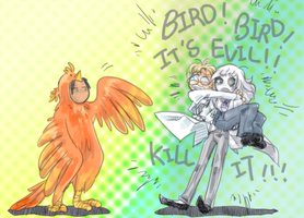 Bird! Bird! by ramisiun