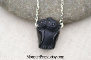 Bat Couple Necklace by MonsterBrandCrafts