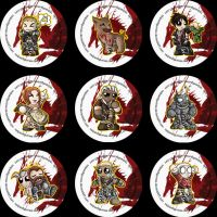 Dragon Age: Origins Badges by RedPawDesigns