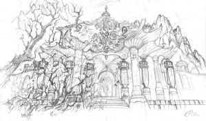 The Sanctuary of Artemise (sketch) by Agalanthe