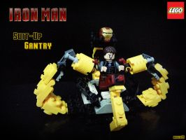 Suit-Up Gantry LEGO Iron Man by areev19
