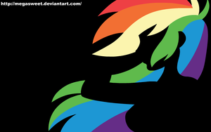 Human Wallpaper - Rainbow Dash (Black) by MegaSweet