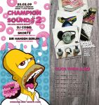 Donuts Championsound flyer by Bobsmade