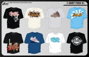T-shirt Pack 01 by inumocca