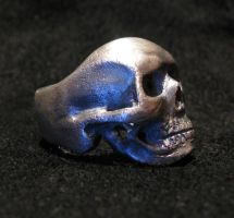 Sterling Silver Skull Ring 4 by Sothoth