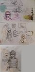 Sketchbookpages2 - Mostly Bakura.. by c0nduit
