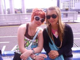 Me and Emma outside airport by MonikaDubska