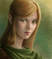 Elf Sketch Portrait by SulaMoon