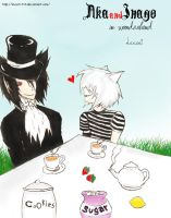 Aka and Inago in wonderland by Locust-713
