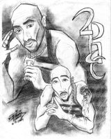 Tupac as Anime Cartoon by Diana-Huang