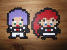 Jessie and James - Hama Beads by TheRedGummyBear