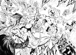 Frogman in hell - double page splash by GibsonQuarter27
