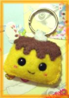 felt pudding face keychain by kneazlegurl125