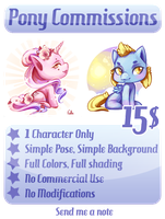Pony Avatar Commissions: OPEN by drawingum