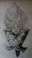 Goten Super Saiyan by Conzibar