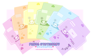 +Panda Stationary: Envelopes+ by nayruasukei