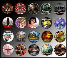 Game Icons VIII by sirithlainion