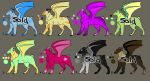 Adopltables (Points) OPEN by Aki-hay-Adopts