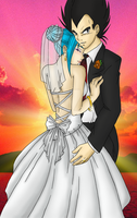 Lynn and Vegeta wedding by RuuRuu-Chan